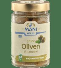 Grüne Oliven al Naturale, 205 gr Glas